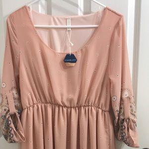 Pink blush dress NWT